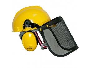 Pracovní helma odhlučněná - sekání, řezání, ochrana očí