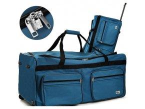 Cestovní taška na kolečkách XXL modrá