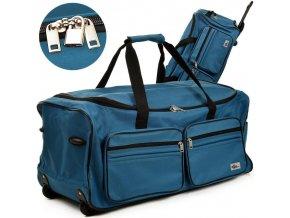 Cestovní taška s kolečky a teleskopickým madlem - velká 100 L