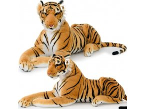 Jemnoučký plyšový tygr XXL 136 cm