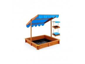 Kryté pískoviště deluxe 120x120 cm - nastavitelná střecha