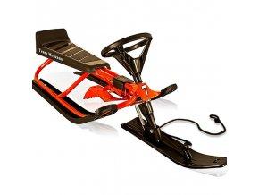 Skibob - sáňky s volantem - do 75 kg, červené