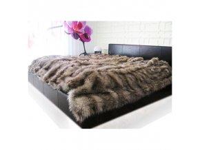 Luxusní hřejivý kožešinový přehoz deka 150x200 cm