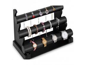 Šperkovnice třípatrová - černá