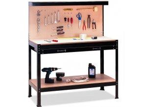 Pracovní stůl, ponk, s úložným prostorem