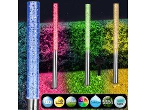 4x LED solární svítilna s měničem barev