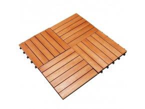Dřevěné dlaždice 4 ks 30 x 30 cm - Plug-in dlažba