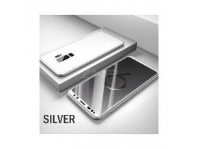 Umělohmotné pouzdro 360° pro Samsung S9 plus stříbrné