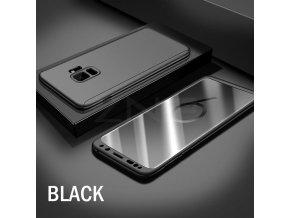 Umělohmotné pouzdro 360° pro Samsung S8 černé