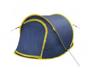 Samorozkládací kempovací stan pro 2 osoby, námořnická modrá / žlutá