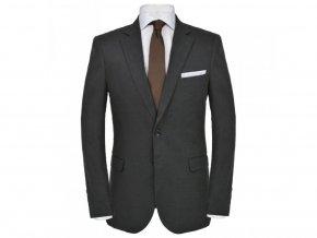 Pánský dvoudílný oblek vel. 48, lněný, tmavě šedý