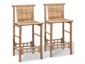 Barové židle 2 ks bambus