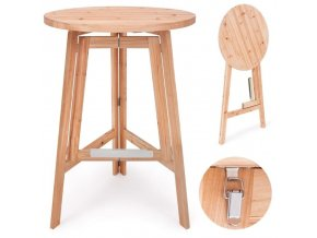 Barový stolek z masivního dřeva