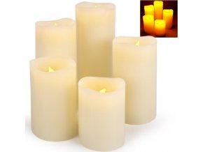 5-dílná dekorativní sada LED svíček - 5 velikostí