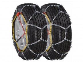 2 ks Sněhové řetězy na pneumatiky aut, 12 mm KN 120