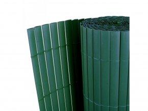 Balkonová zástěna z PVC oboustranná - 90 x 300 cm - zelená