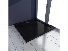 Čtvercová ABS sprchová vanička, černá 80 x 80 cm