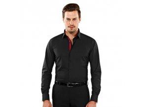 Luxusní pánská černá košile Vincenzo Boretti