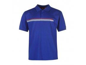 Lonsdale 2 Stripe pánské sportovní Polo modrá