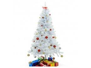 Umělý vánoční stromek 180 cm bílý