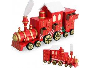 Adventní kalendář lokomotiva
