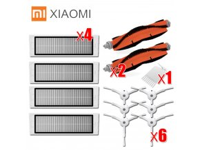 6x side brush 4x HEPA filter 2x main brush Suitable for xiaomi vacuum roborock s50 S51