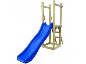 Hrací věž, set s žebříkem a skluzavkou 237x60x175 cm