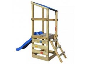 Hrací věž, set s žebříkem a skluzavkou
