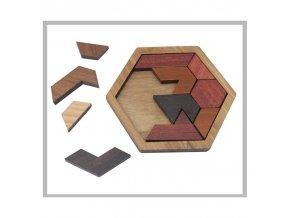 Dřevěné puzzle - hlavolam