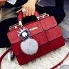 Dámská kabelka styl aktovka červená