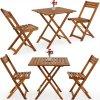 Zahradní, balkonový dřevěný set - 2 x židle a stůl