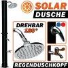 Zahradní sprcha se solárním ohřevem a kapacitou 20 l