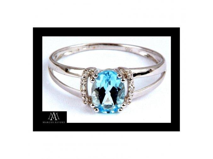 Prsten Marcus Astory MA09 ze 14K zlata s diamanty (Velikost prstenu 50)