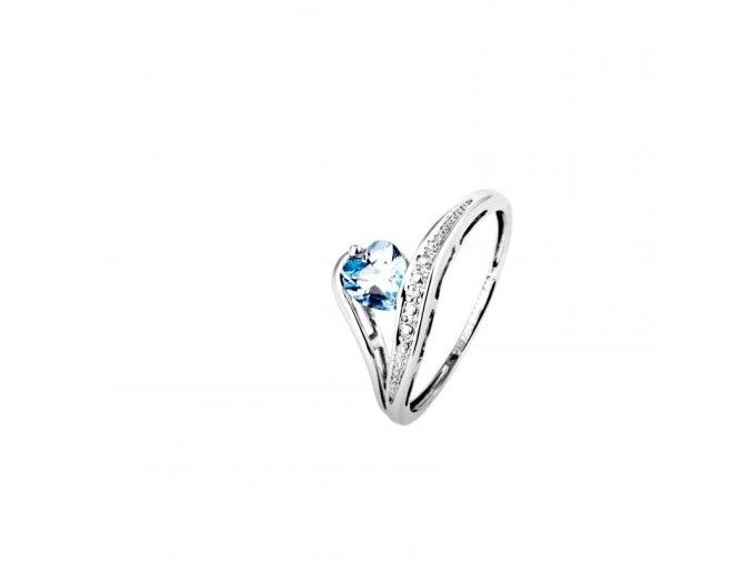Prsten Marcus Astory MA96 ze 14K bílého zlata s diamanty (Velikost prstenu 52)