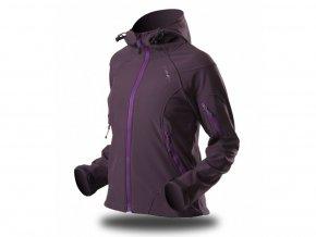 189 damska softshellova bunda trimm brenda purple dark purple fialova