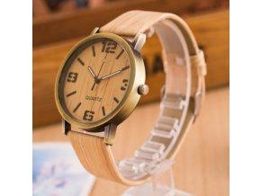 Módní hodinky s dřevěným ciferníkem (Verze 2)
