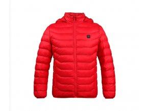 Pánská vyhřívaná bunda červená (Velikost XL)