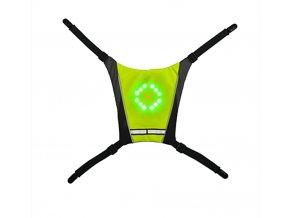 Bezdrátová bezpečnostní LED cyklistická vesta (Barva Šedá)