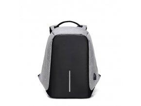 Bezpečnostní batoh s USB pro nabíjení (Barva Černá)