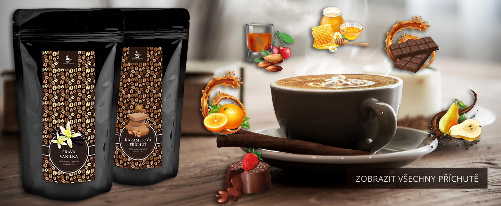 ochucená káva