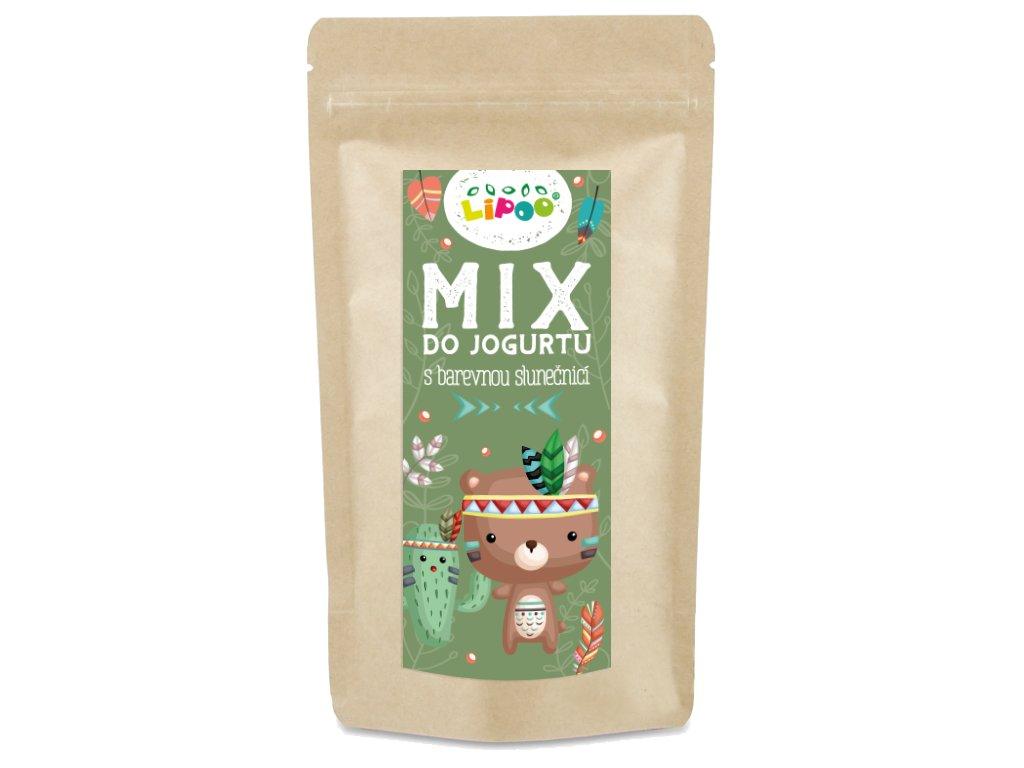 mix do jogurtu s barevnou slunečnicí