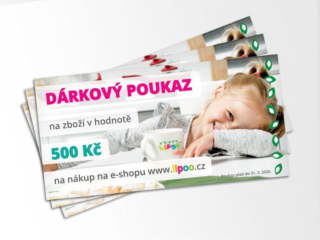 darkovy poukaz 500kc foto 3ks