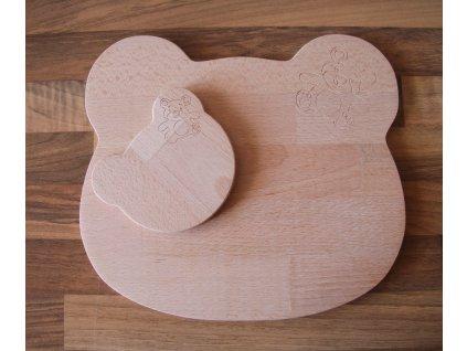Dřevěné prkénko Medvídek