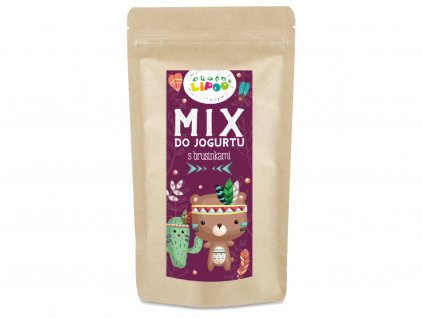 mix do jogurtu s brusinkami