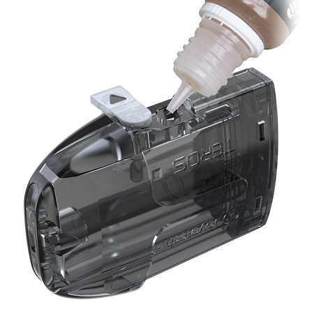 nádržka POD pro snadné nalití e-liquidu