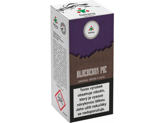 liquid dekang blueberry pie 10ml 11mg boruvkovy kolac