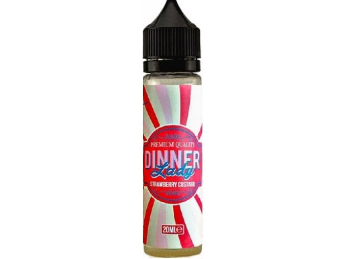 Příchuť Dinner Lady Shake and Vape 20ml Strawberry Custard