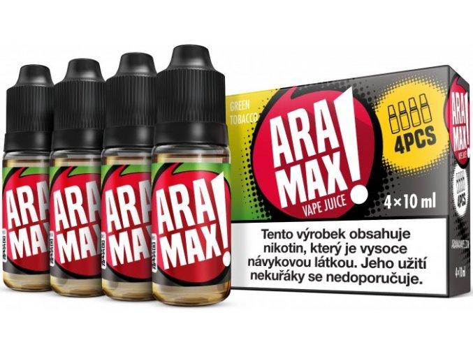 liquid aramax 4pack green tobacco 4x10ml3mg