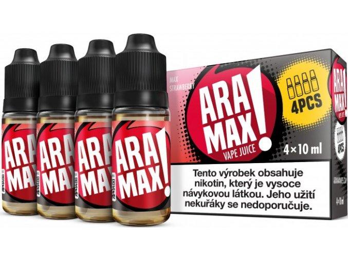 liquid aramax 4pack max strawberry 4x10ml3mg