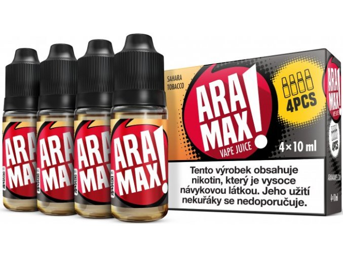 liquid aramax 4pack sahara tobacco 4x10ml3mg